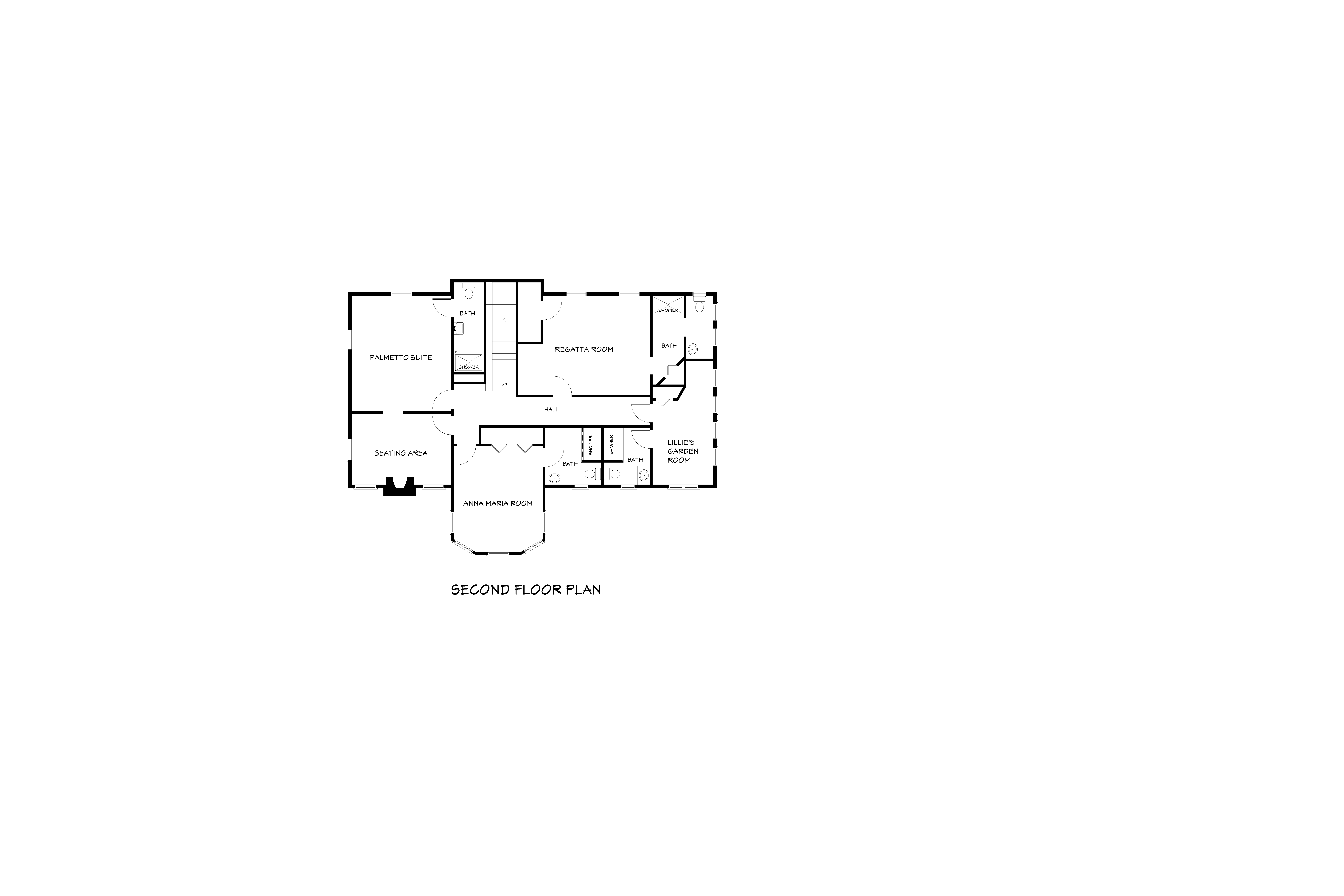 Palmetto Riverside Floorplan - Second Floor